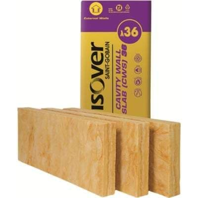 100mm Isover CWS 36 100x455x1200mm - 6.55 m2 Pack