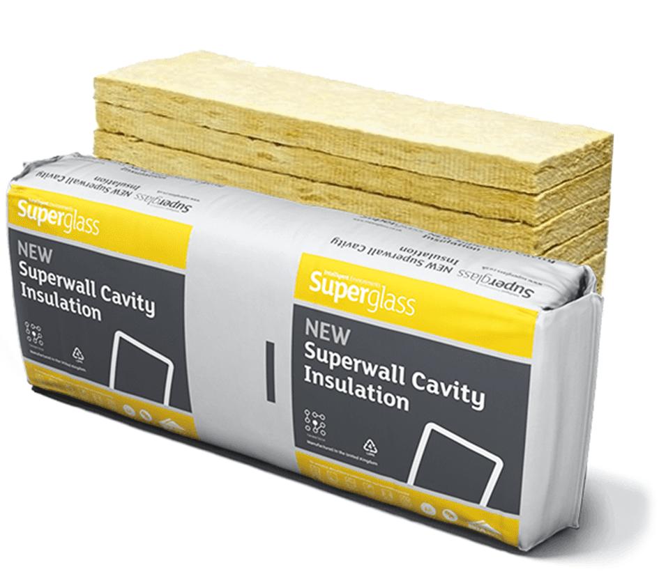 125mm Superglass Superwall 32 Cavity Wall Insulation Batt - (2.18m2)