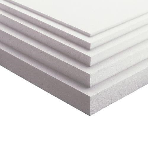 Polystyrene Insulation 75mm 2400x1200mm Pack of 4 Sheets