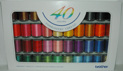 Brother Embroidery  Threads box of 40- B244