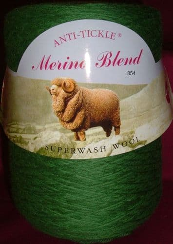 King Cole Pure Wool Yarn 500g Cone 4ply - Grass