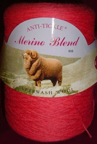 King Cole Pure Wool Yarn 500g Cone 4ply - Pink