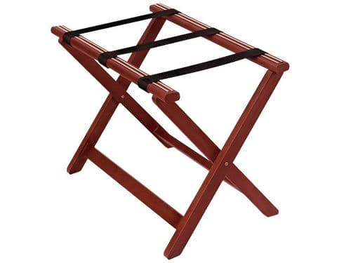 Corby York Wooden Luggage Rack, Mahogany (Case of 2)