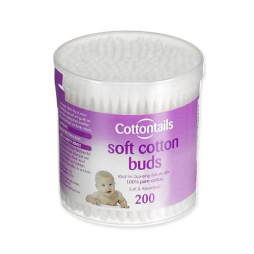Cotton Buds with Paper Stick (Case of 12 x 200)