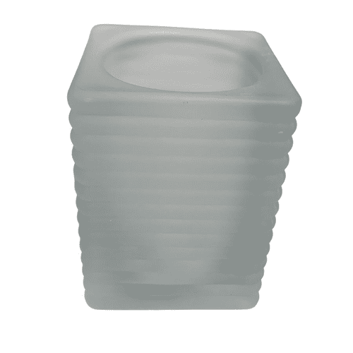 Frosted Ribbed Tealight Holders (Case of 12)