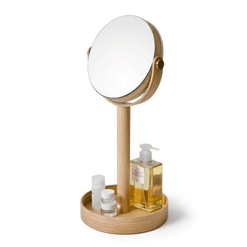 Natural Oak Magnifying Mirror (Case of 4)