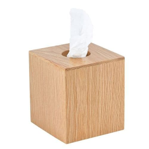 Natural Oak Tissue Box Cover (Case of 4)