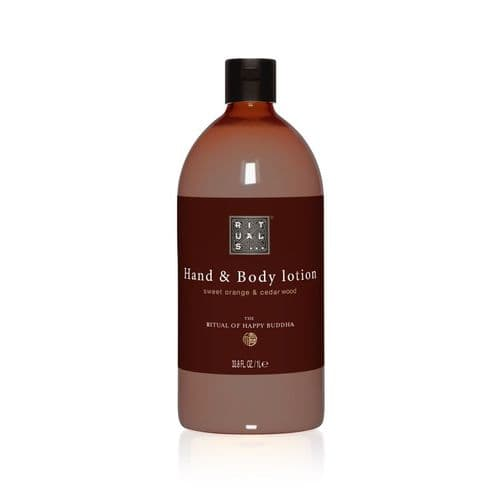 New Rituals Happy Buddha Hand & Body Lotion, 1 Ltr Refill (Case of 6)