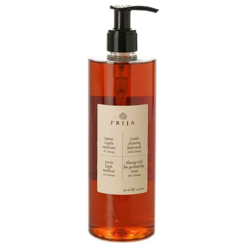 Prija Gentle Cleansing Hand Wash with Ginseng, Pump Dispenser (Case of 18)