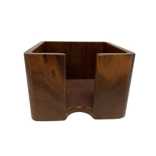 Wooden Cube Notepad Holder - 1 AVAILABLE