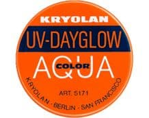 Kryolan Aquacolor UV-Dayglow Orange