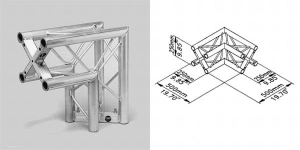 ST-System Square Truss 90° junction