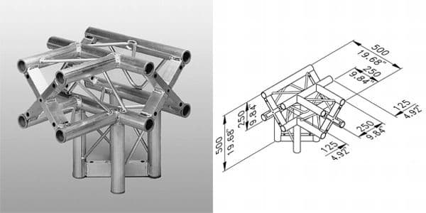 ST-System Square Truss T junction with leg
